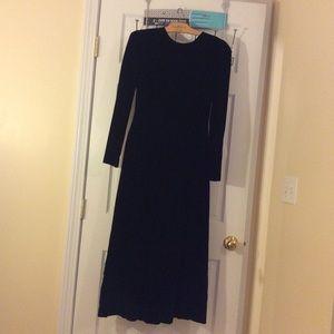 Ann Taylor Women's black velvet dress